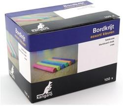 Schoolbordkrijt 100stuks kleur assorti