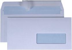 Envelop Quantore 114x229mm venster 4x11cm rechts zelfk 50st