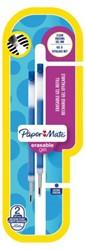 Gelschrijvervulling Paper Mate Inkjoy erasable medium blauw
