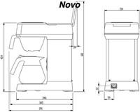 Koffiezetapparaat Bravilor Novo inclusief glazen kan-2