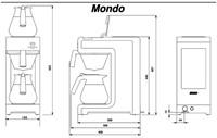 Koffiezetapparaat Bravilor Mondo + 2 glazen kannen-3