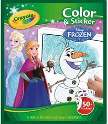 Kleurboek Crayola met stickers Frozen