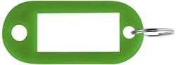 Sleutellabel Pavo kunststof groen