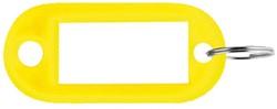 Sleutellabel Pavo kunststof geel