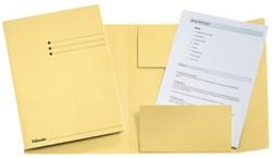 Dossiermap Esselte folio 3 kleppen manilla 275gr geel