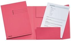 Dossiermap Esselte folio 3 kleppen manilla 275gr roze