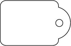 Label Apli karton nr391 28x43mm wit