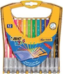 Kleurstift BicKids rainbow display à 28 etuis