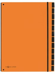 Sorteermap Pagna Trend 12 tabs A4 PP oranje