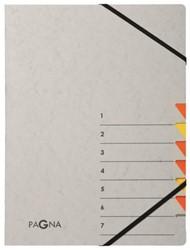 Sorteermap Pagna Easy 7 tabs A4 PP grijs/oranje
