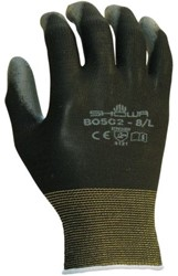 Handschoen Showa B0502 grip nylon zwart small
