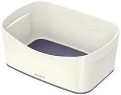 Opbergtray Leitz WOW Mybox 246x98x160mm grijs/wit