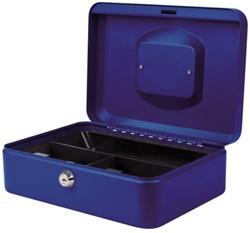 Geldkist Pavo 250x180x90mm blauw