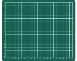 Snijmat Rillstab A5 230x190mm groen