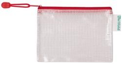 Opbergtas Tarifold met rits 160x110mm PVC rood