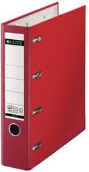 Ordner Bank Leitz A4 80mm 2 mechanieken rood