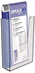 Folderhouder OPUS 2 wand 1/3 A4 transparant