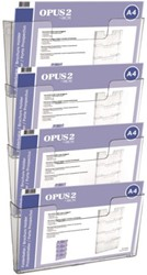 Folderhouder OPUS 2 A4 wand liggend koppelbaar acryl