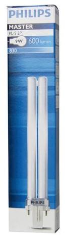 Spaarlamp Philips Master PL-S 2P 9W 600 Lumen 830 warm wit-3