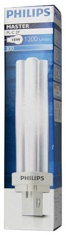Spaarlamp Philips Master PL-C 2P 18W 1200 Lumen 830 warm wit-3