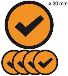 Magneet check 3cm oranje