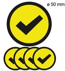 Magneet check 5cm geel