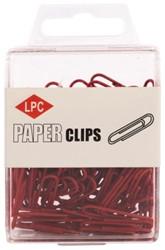 Paperclip LPC 28mm 100stuks rood
