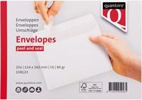Envelop Quantore bank C6 114x162mm zelfklevend wit 25stuks-1