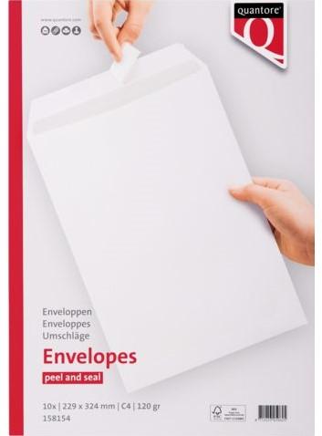 Envelop Quantore akte C4 229x324mm zelfklevend wit 10stuks-3