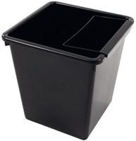 Inzetbak voor vierkante tapse papierbak zwart-2