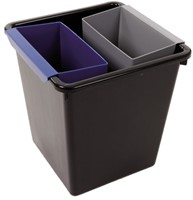 Inzetbak voor vierkante tapse papierbak blauw-2