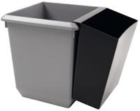 Inzetbak voor vierkante tapse papierbak zwart-3