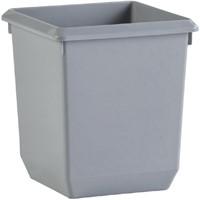 Papierbak kunststof vierkant taps 27liter grijs-1