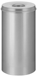 Papierbak met vlamdover Vepabins 50liter 33.5cm grijs