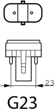 Spaarlamp Philips Master PL-S 2P 9W 600 Lumen 830 warm wit-1