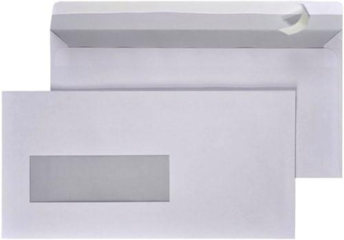 Envelop Hermes EA5/6 110x220mm venster 3x10links zelfkl 500-2