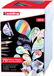 Brushpen edding 69+1 Colour Happy 70-delig assorti