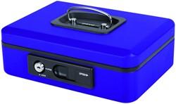 Geldkist Pavo Deluxe 250x180x90mm blauw