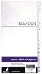 Telefoonalbum KTC K-6201 vulling A-Z 4-rings