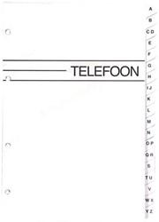 Telefoonalbum KTC K-6203 vulling A-Z 4-rings