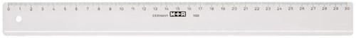 Liniaal M+R 1130 300mm plastic transparant