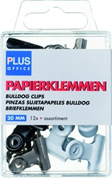Papierklem bulldog Budget blister 20mm assorti