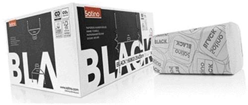 Handdoek Satino Black 25x23cm 2-laags zigzag 3200st.-1