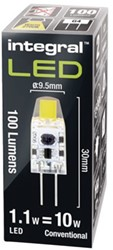 Ledlamp Integral G4 12V 1.1W 2700K warm wit licht 100lumen