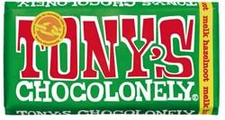 Chocolade Tony's Chocolonely reep 180gr melk hazelnoot
