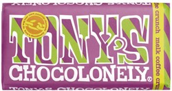 Chocolade Tony's Chocolonely reep 180gr melk coffee crunch