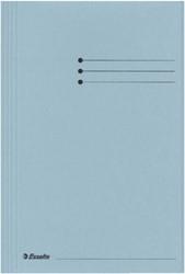 Dossiermap Esselte folio 3 kleppen manilla 275gr blauw
