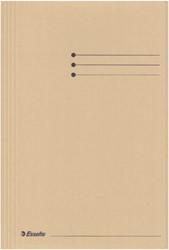 Dossiermap Esselte folio 3 kleppen manilla 275gr gems