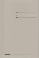 Dossiermap Esselte folio 3 kleppen manilla 275gr grijs