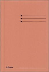 Dossiermap Esselte folio 3 kleppen manilla 275gr oranje